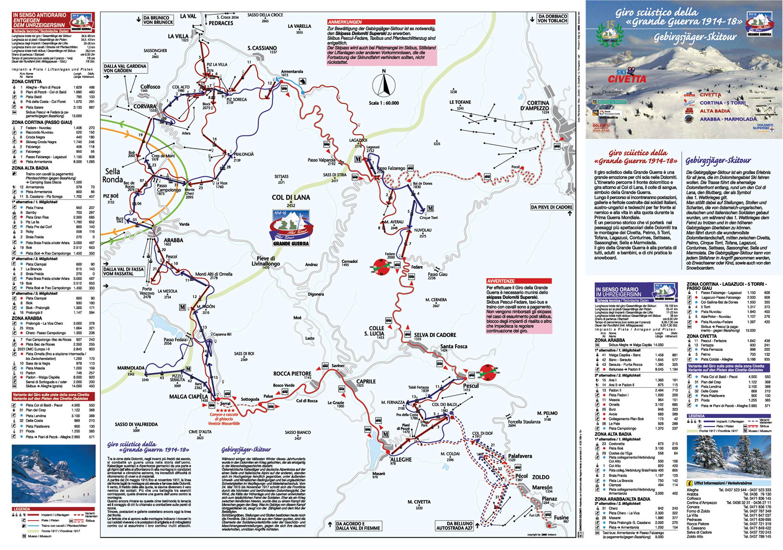 Giro della Grande Guerra Ski Map